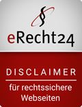 Siegel eRecht24 - Disclaimer